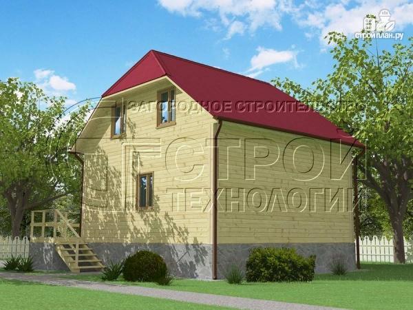 Фото 3: проект загородный дом 7х7,5 с террасой и мансардой