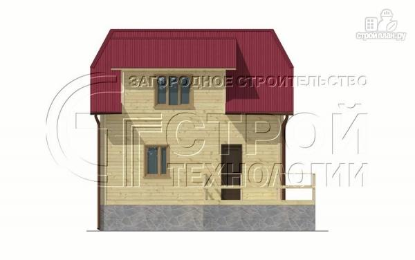 Фото 7: проект загородный дом 7х7,5 с террасой и мансардой