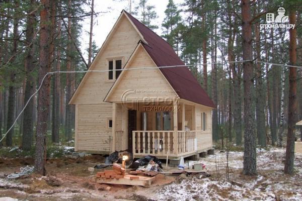 Фото 13: проект загородный дом 6х6 мс террасой и мансардой