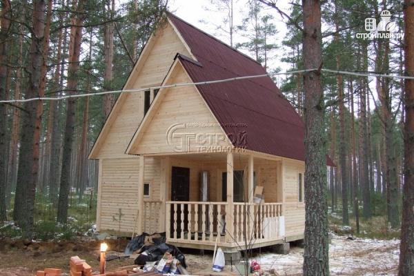 Фото 14: проект загородный дом 6х6 мс террасой и мансардой