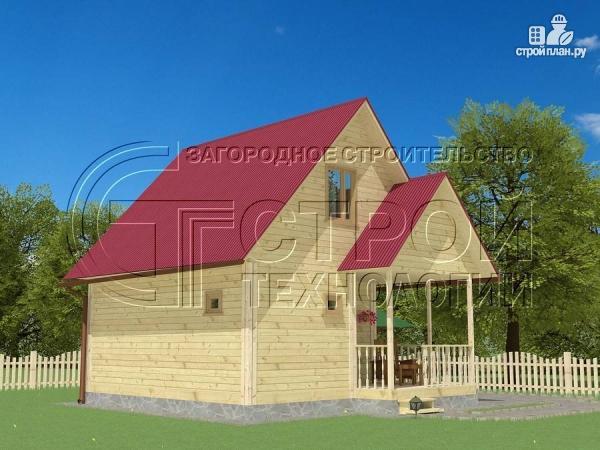 Фото 3: проект загородный дом 6х6 мс террасой и мансардой