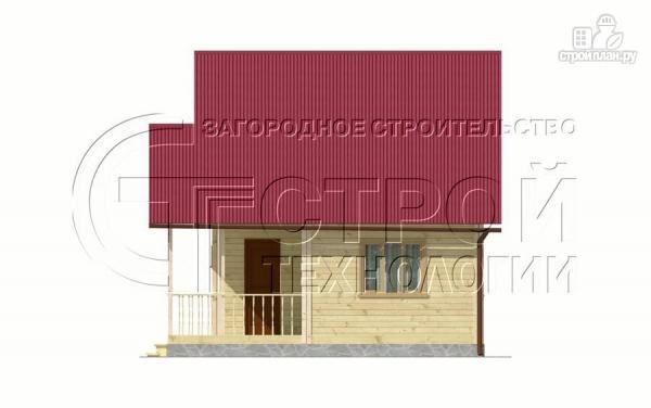 Фото 10: проект загородный дом 6х6 мс террасой и мансардой