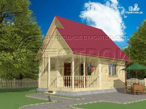 Фото 2: проект загородный дом 6х6 мс террасой и мансардой