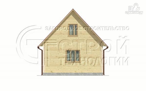 Фото 8: проект загородный дом 6х6 мс террасой и мансардой