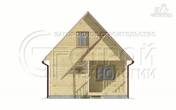 Фото 9: проект загородный дом 6х6 мс террасой и мансардой