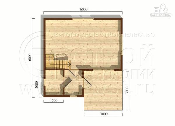 Фото 6: проект загородный дом 6х6 мс террасой и мансардой