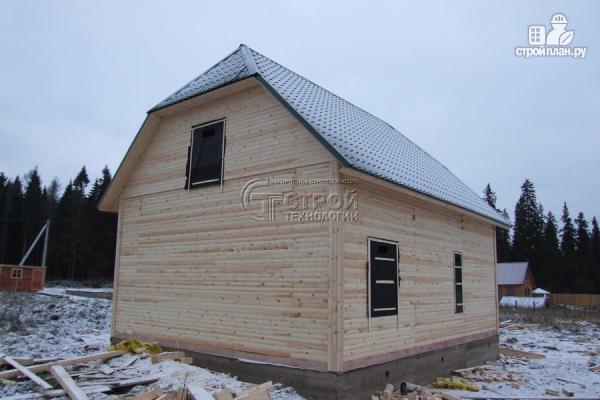 Фото 13: проект загородный дом 7х9 мс террасой и мансардой