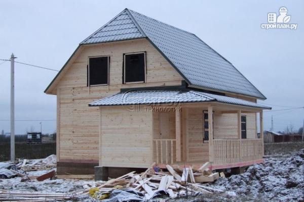 Фото 14: проект загородный дом 7х9 мс террасой и мансардой