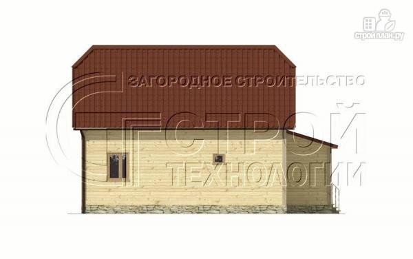 Фото 11: проект загородный дом 7х9 мс террасой и мансардой