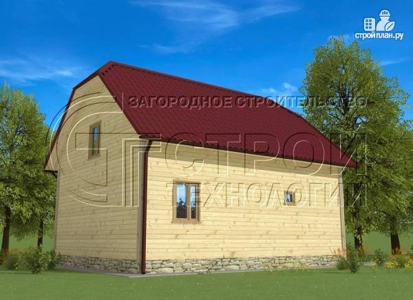 Фото 4: проект загородный дом 7х9 мс террасой и мансардой