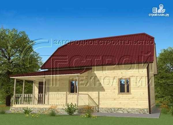 Фото 3: проект загородный дом 7х9 мс террасой и мансардой