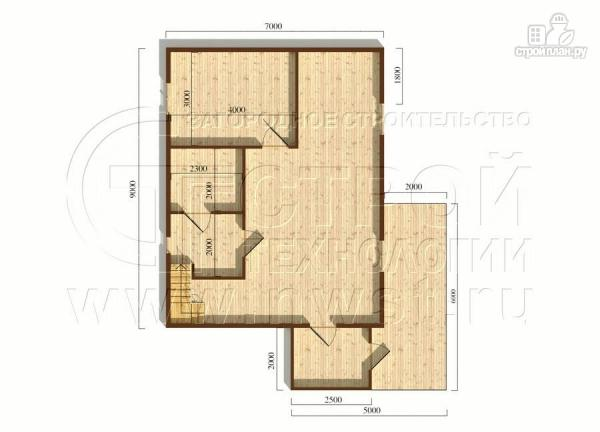 Фото 6: проект загородный дом 7х9 мс террасой и мансардой