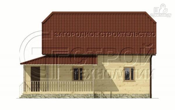 Фото 9: проект загородный дом 7х9 мс террасой и мансардой