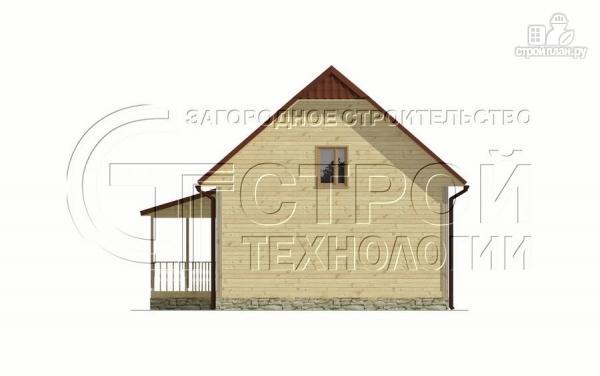 Фото 10: проект загородный дом 7х9 мс террасой и мансардой