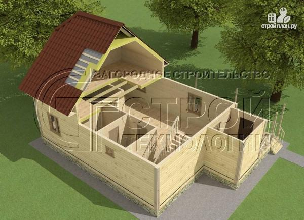 Фото 5: проект загородный дом 7х9 мс террасой и мансардой