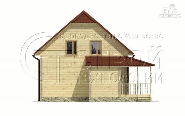 Фото 8: проект загородный дом 7х9 мс террасой и мансардой