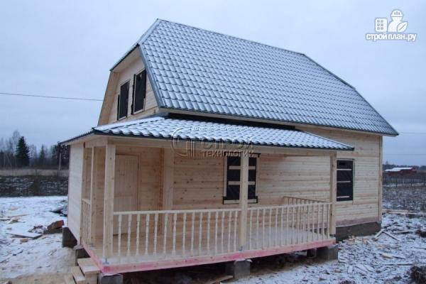 Фото 12: проект загородный дом 7х9 мс террасой и мансардой