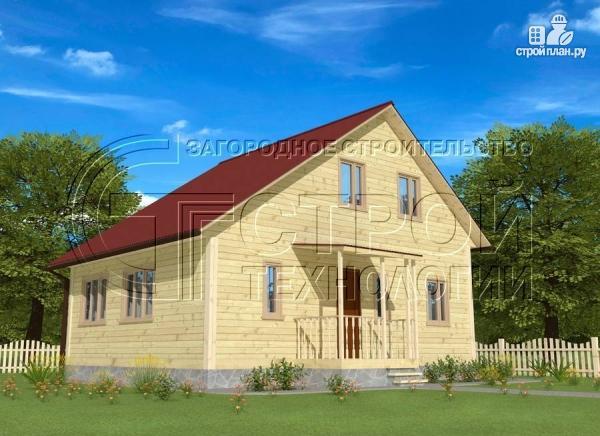 Фото 2: проект загородный дом 6х7 мс верандой 21 м2 и крыльцом