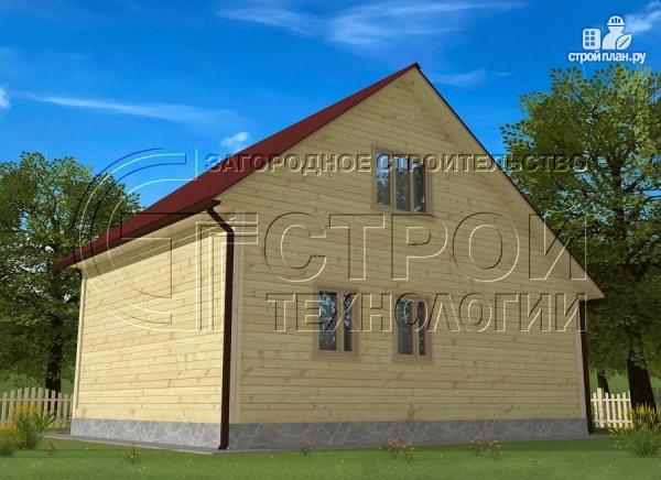 Фото 4: проект загородный дом 6х7 мс верандой 21 м2 и крыльцом