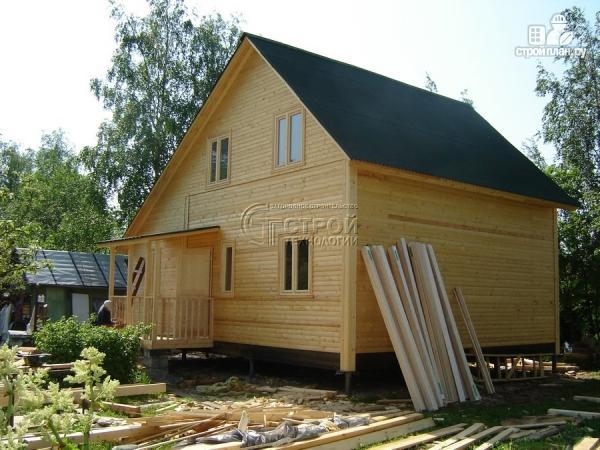 Фото 12: проект загородный дом 6х7 мс верандой 21 м2 и крыльцом