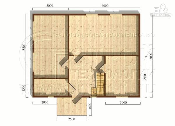 Фото 6: проект загородный дом 6х7 мс верандой 21 м2 и крыльцом