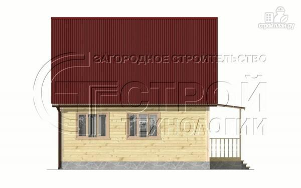 Фото 11: проект загородный дом 6х7 мс верандой 21 м2 и крыльцом