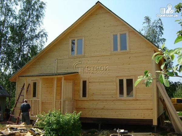 Фото 13: проект загородный дом 6х7 мс верандой 21 м2 и крыльцом