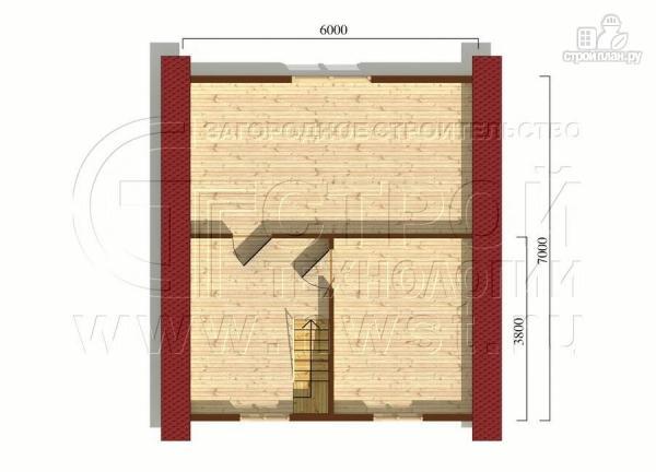 Фото 7: проект загородный дом 6х7 мс верандой 21 м2 и крыльцом