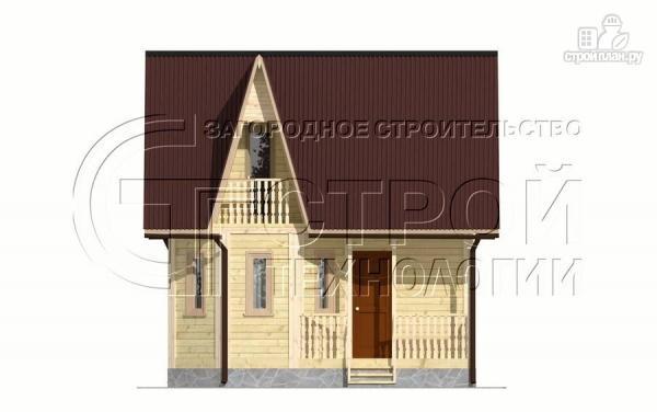 Фото 8: проект загородный дом 6х7 мс эркером, крыльцом и лоджией