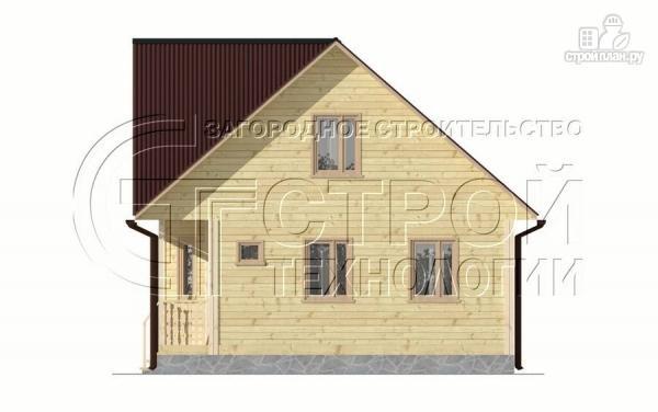 Фото 11: проект загородный дом 6х7 мс эркером, крыльцом и лоджией