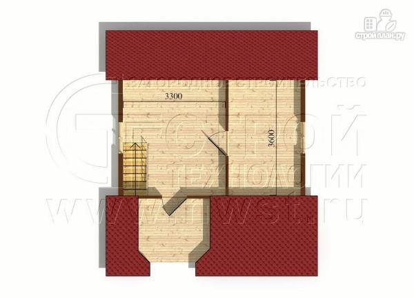 Фото 7: проект загородный дом 6х7 мс эркером, крыльцом и лоджией
