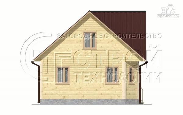 Фото 9: проект загородный дом 6х7 мс эркером, крыльцом и лоджией