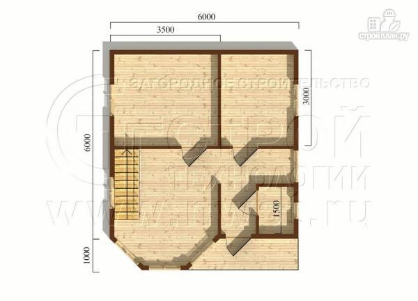 Фото 6: проект загородный дом 6х7 мс эркером, крыльцом и лоджией