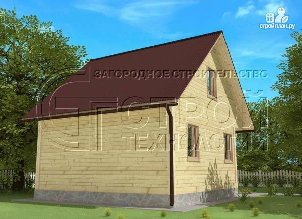 Фото 4: проект загородный дом 6х7 мс эркером, крыльцом и лоджией