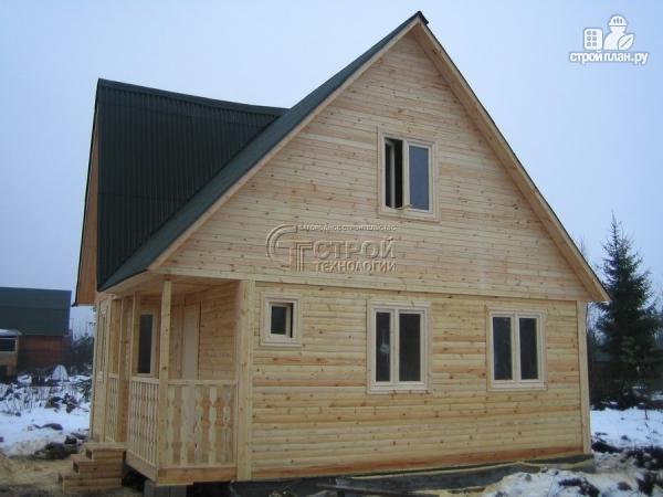 Фото 14: проект загородный дом 6х7 мс эркером, крыльцом и лоджией