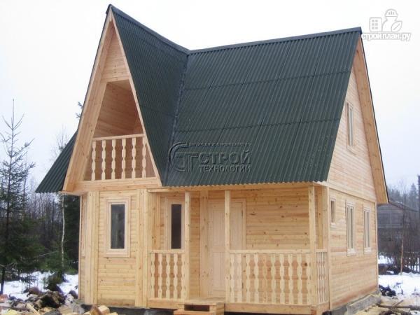 Фото 12: проект загородный дом 6х7 мс эркером, крыльцом и лоджией