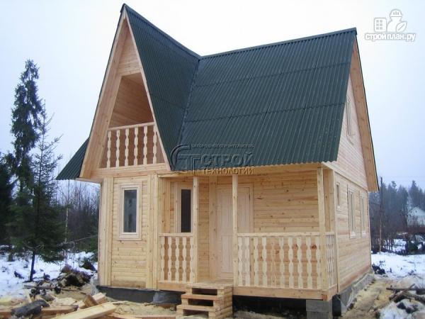 Фото 13: проект загородный дом 6х7 мс эркером, крыльцом и лоджией
