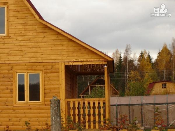 Фото 11: проект дачный дом 6х5 м с террасой и мансардой
