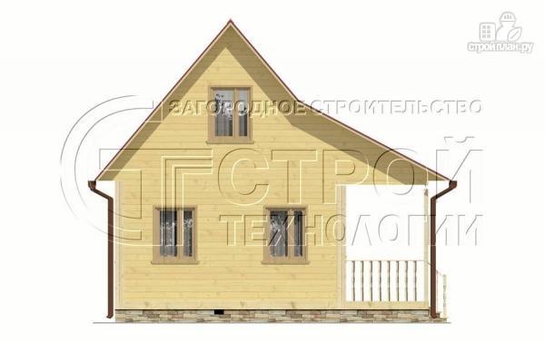 Фото 7: проект дачный дом 6х5 м с террасой и мансардой