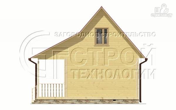 Фото 9: проект дачный дом 6х5 м с террасой и мансардой