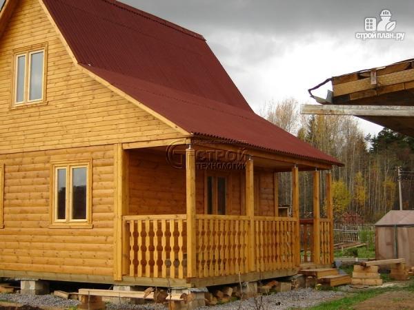Фото 13: проект дачный дом 6х5 м с террасой и мансардой