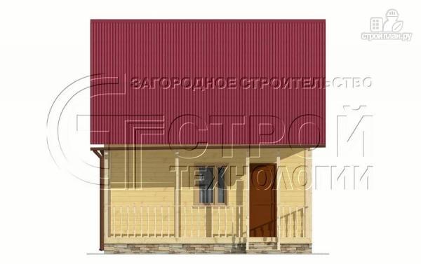 Фото 8: проект дачный дом 6х5 м с террасой и мансардой
