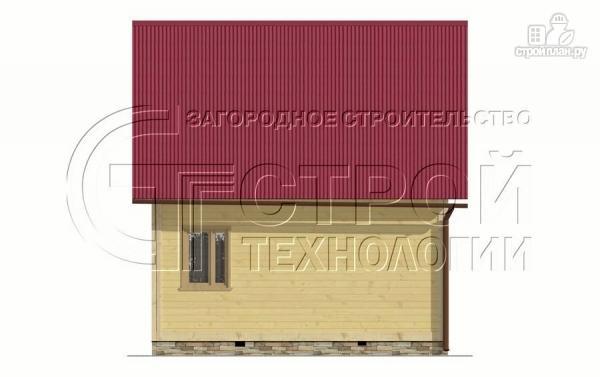 Фото 10: проект дачный дом 6х5 м с террасой и мансардой
