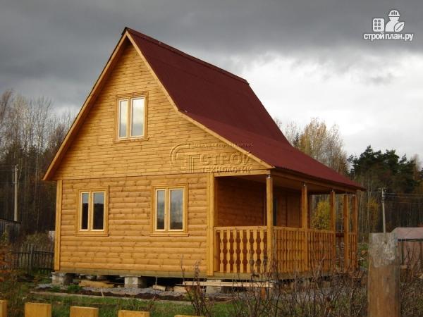 Фото 12: проект дачный дом 6х5 м с террасой и мансардой