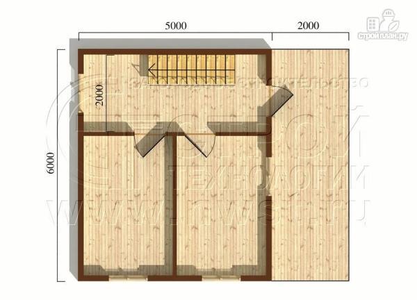 Фото 5: проект дачный дом 6х5 м с террасой и мансардой