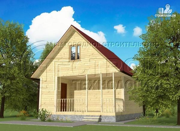 Фото: проект дом 6х8 мс террасойимансардой