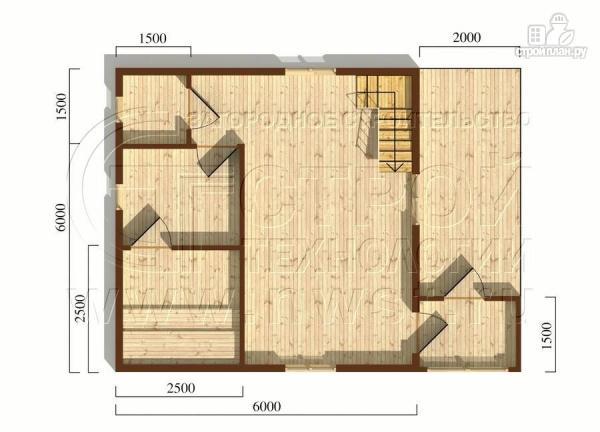 Фото 5: проект дом 6х8 мс террасойимансардой