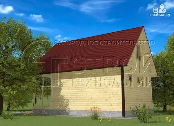 Фото 3: проект дом 6х8 мс террасойимансардой