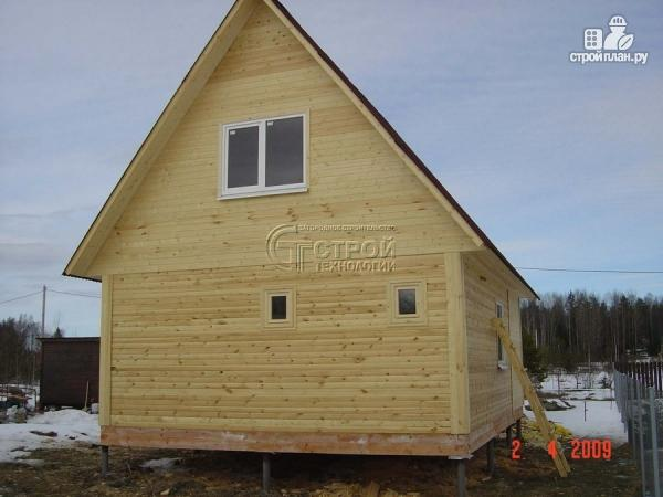Фото 12: проект дом 6х8 мс террасойимансардой