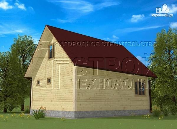 Фото 2: проект дом 6х8 мс террасойимансардой
